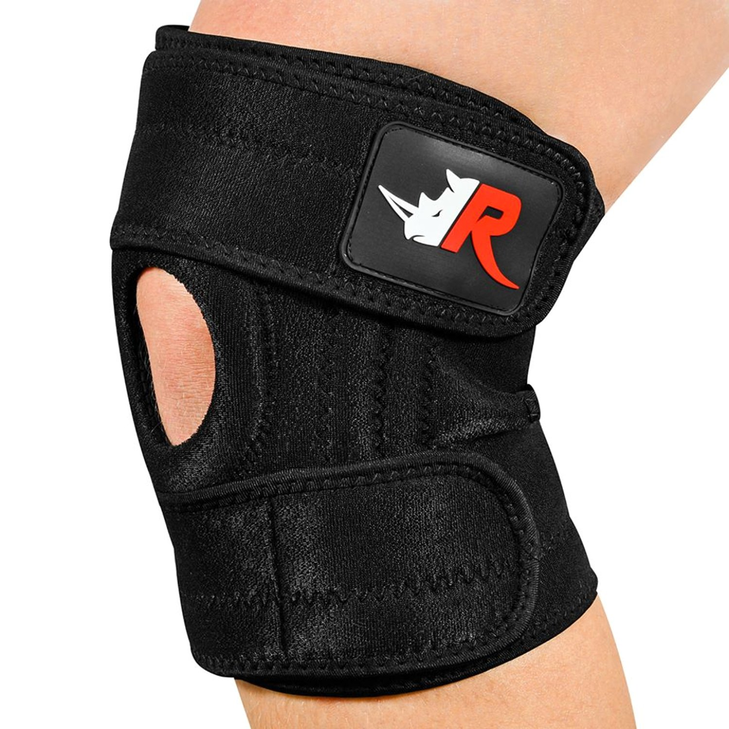 Large Knee Brace (w/Bag) - Adjustable Support for Arthritis, Meniscus Tear, ACL, Running, Sports | Non-Slip Patella Protector Relieves Pain by Rugged Rhino