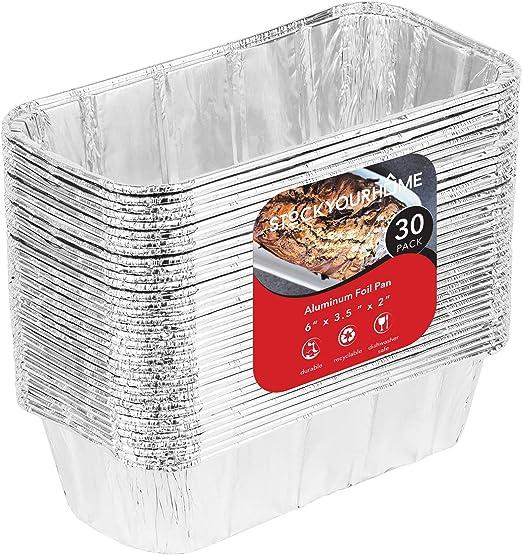 100 Pack Aluminum Foil Loaf Pans 3 Lb Disposable Bread Container Bake Cook Broil