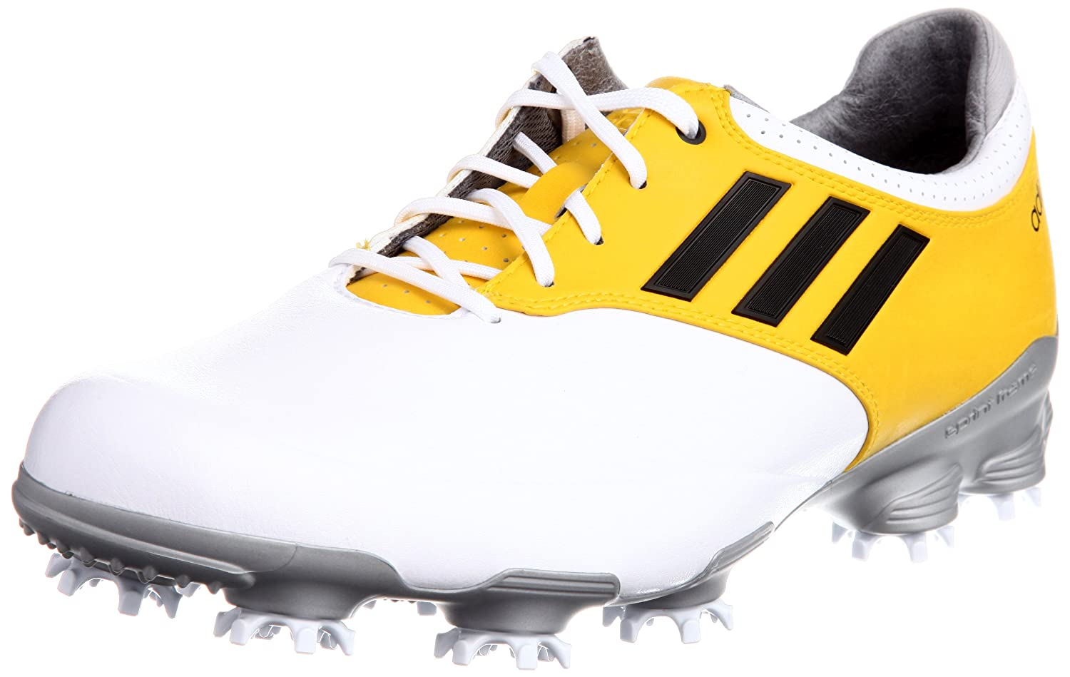 d469444bb5f8 Adidas Adizero Tour Golf Shoes White Yellow UK 10 W  Amazon.co.uk  Sports    Outdoors