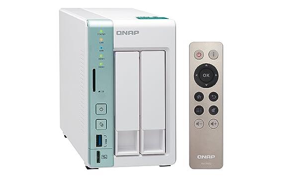 QNAP TS-251A - Dispositivo de Almacenamiento en Red NAS (Intel Celeron, 2 bahías, 2 GB RAM, USB 3.0, SATA II/III, Gigabit), Blanco: Qnap: Amazon.es: ...