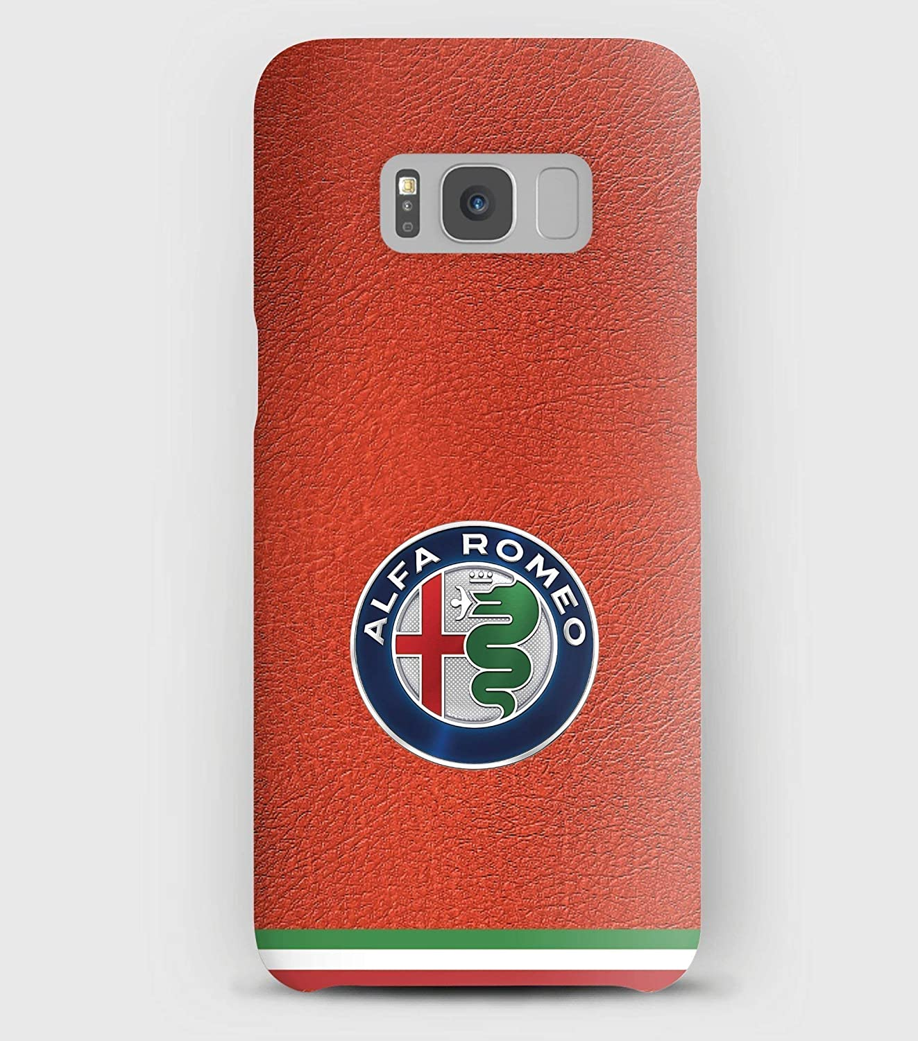 Leather & Alfa Romeo cover Samsung S5, S6, S7, S8, A3, A5, A8, J3,J5, Note 5,8,9