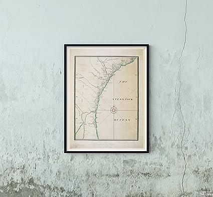 Map Of Georgia And Florida Coast.Amazon Com 1770 Map Florida Georgia South Carolina Coast Of South