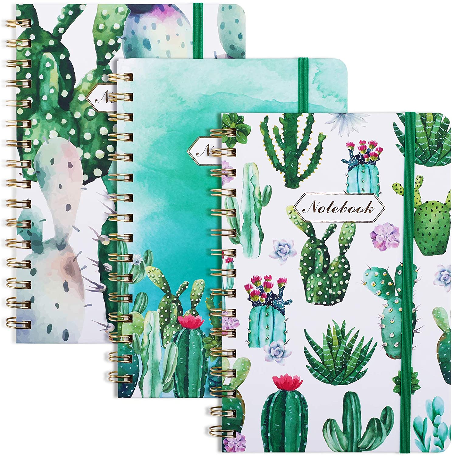 EOOUT 3 Pack A5 Spiral Notebook, Ruled Journal, 6