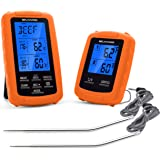 Cooking Thermometer Wireless Meat and Food Thermometer with Dual Probes for Grilling, Cooking, Baking, Smoker and BBQ Digital Thermometer, with Timer and Pre-Programmed Temps