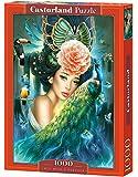 Puzzle « Dame au paon » de Castorland (lot de 1 000 pièces multicolores)