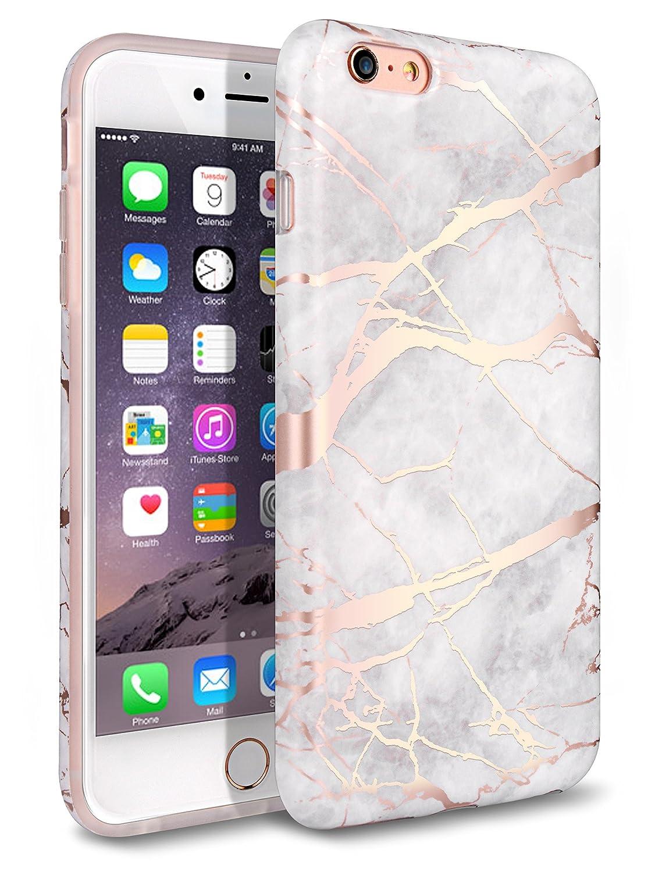funda para iphone 6 plus marmolada, rosa