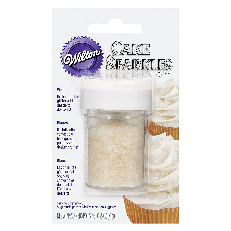 Amazon Wilton White Cake Sparkles Edible Glitter 025 Oz Kitchen Dining