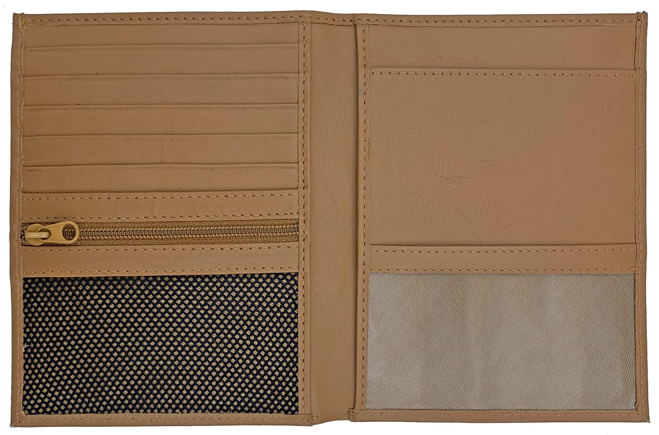 Light Brown RFID Blocking Genuine Leather Travel Passport Wallet Holder by 123 Cheap Checks