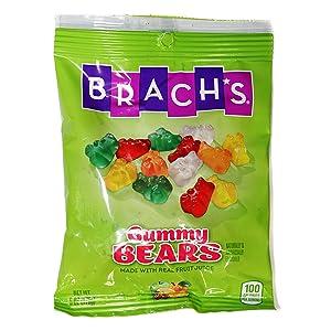 Brach's (1) Bag Gummy Bears - Fruit Flavored Candy Made With Real Fruit Juice - Cherry, Orange, Lemon, Pineapple & Green Apple Flavors - 6 oz