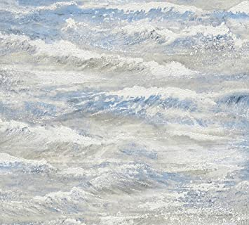 Cr/éation Strukturprofiltapete Dekora Natur Tapete 10,05 m x 0,53 m blau Made in Germany 560414 5604-14 A.S