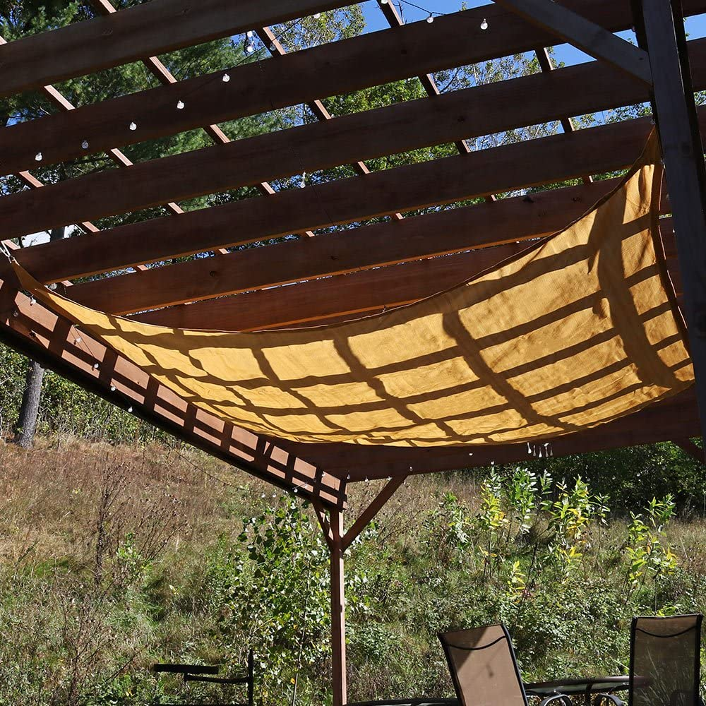 Sunnydaze 12 x 12 Sun Shade Sail Canopy Square – for Outdoor Patio, Garden, Facility, and Activities