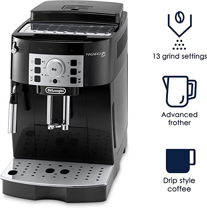DeLonghi ECAM22110B Super Automatic Espresso, Latte and Cappuccino Machine, Black - Renewed