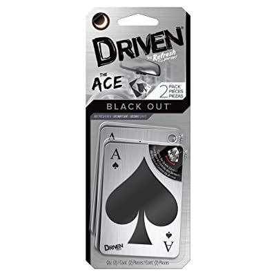 Driven by Refresh Your Car! E301508600 The ACE Air Freshener, Black Out, 2 Per Pack: Automotive