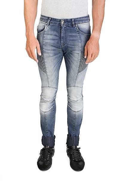 3ecbb4aa05d49e Pierre Balmain Men's Skinny Fit Biker Denim Jeans Pants Blue: Amazon.ca:  Clothing & Accessories