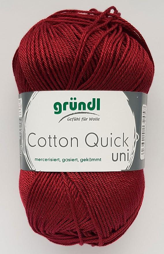 Cotton Quick Gründl Wolle 100 % Baumwolle 50 g Farbe 01  Amazon.de  Küche    Haushalt 2943438c5e