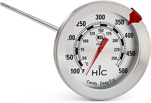 Deep Fry Thermometer 12 Inches Stainless Steel Housing Outdoor Cooking Fryer