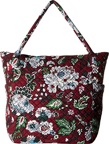 Amazon.com  Vera Bradley Women s Bright Tote Bordeaux Blooms One Size  Shoes c1f86743efee7
