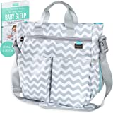 Limited Offer - Best Baby Changing Bag by Liname® - Superior Quality Material - Complete Nappy & Accessories Bag with 13 Roomy Pockets - Includes a Bonus Nappy Changing Pad & eBook