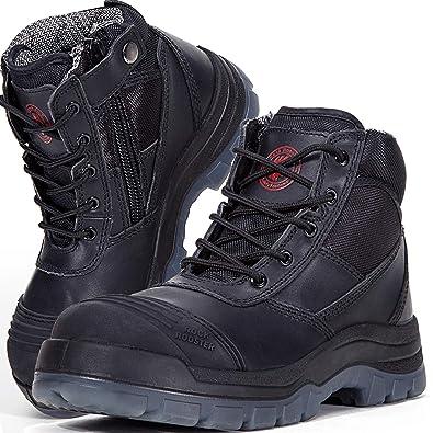23ba6ef23b5 ROCKROOSTER Men's Work Boots Waterproof, Steel Toe, Antistatic, Water  Resistant Leather Shoes, AK050