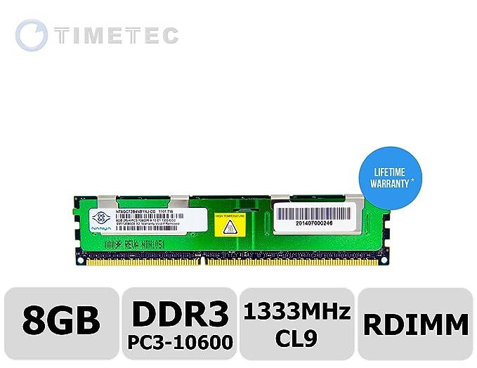 Nanya Lot of 2 NT8GC72B4NB1NJ-CG 8GB 2RX4 PC3-10600R ECC Memory