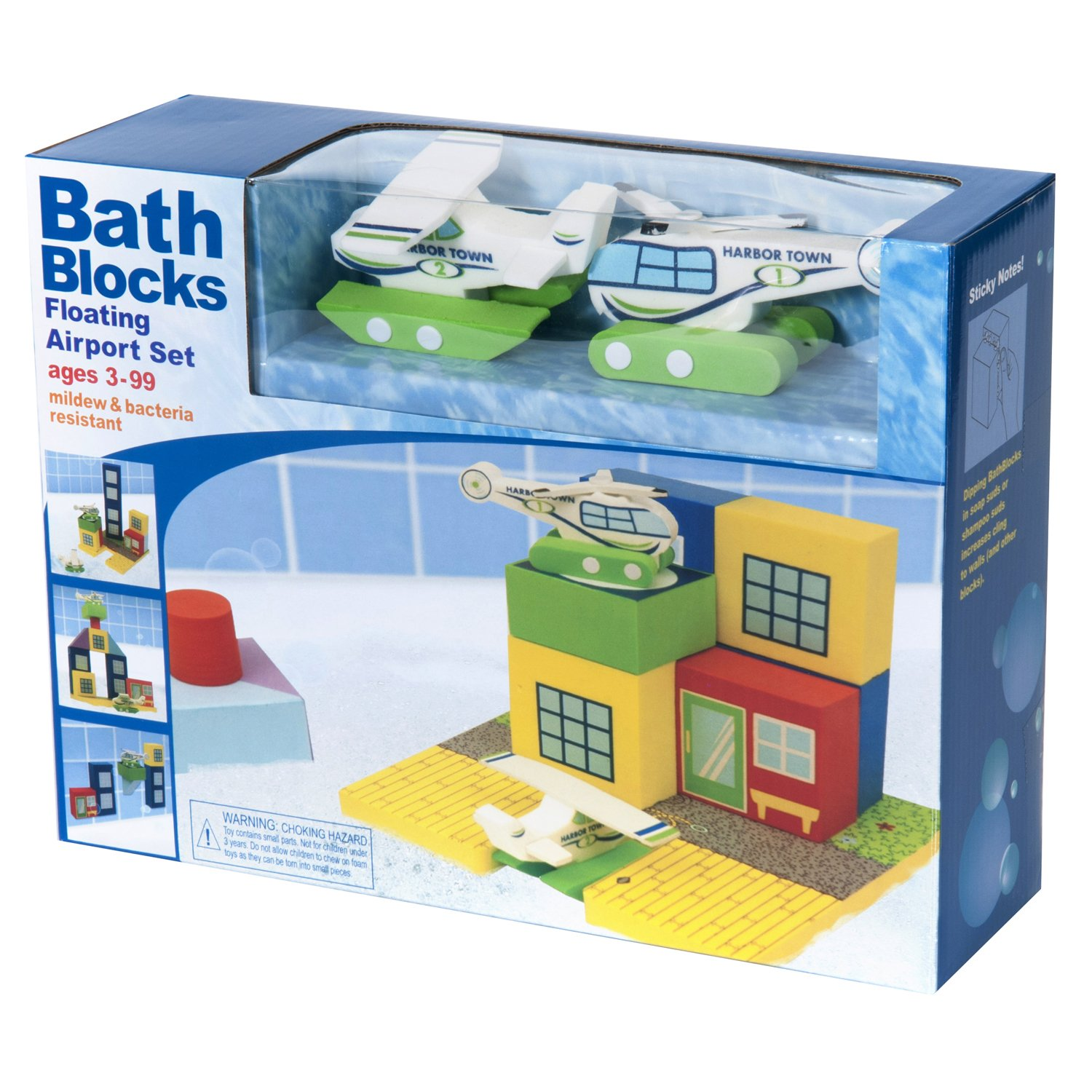 BathBlocks Floating Airport Set in Gift Box by Just Think Toys