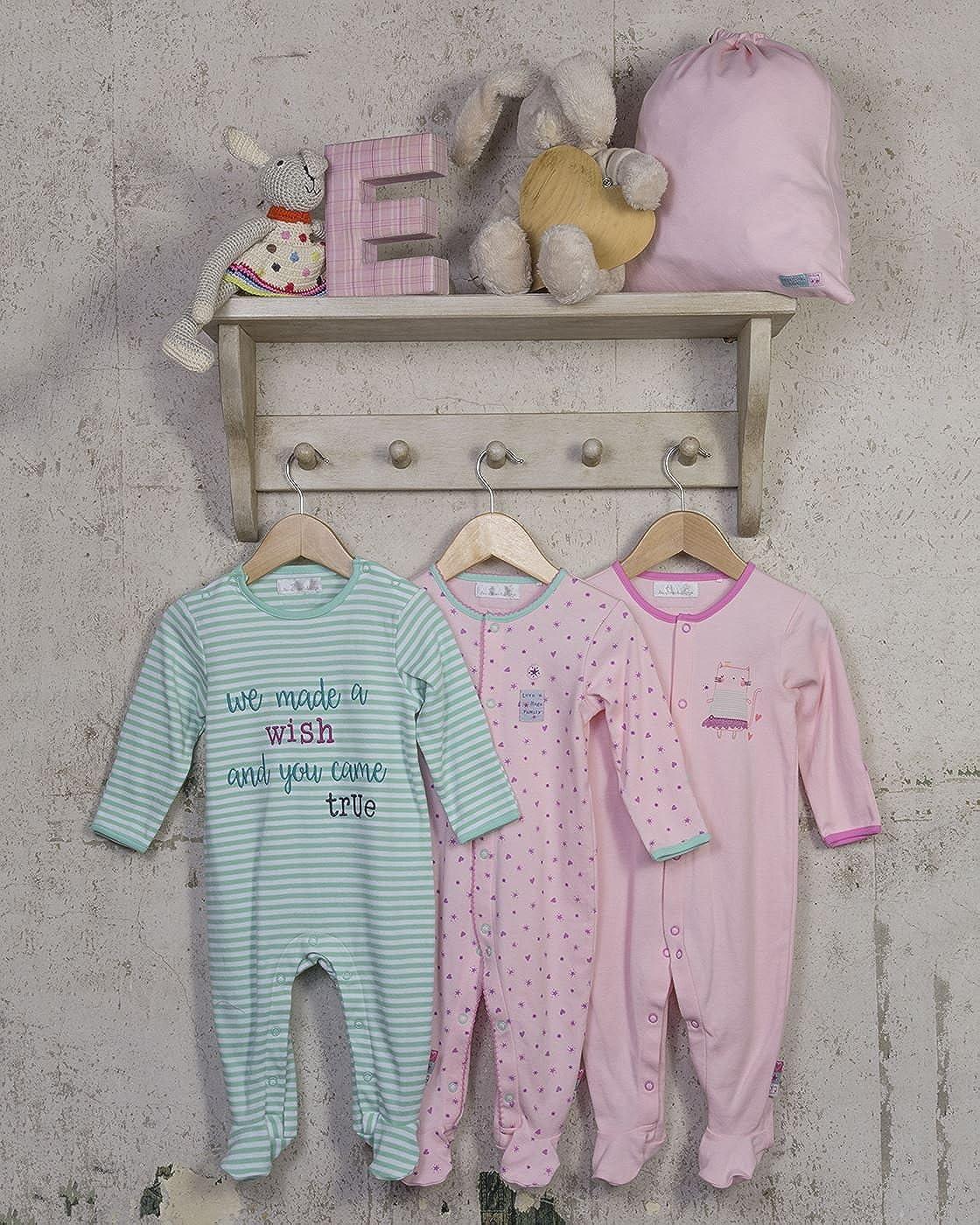 The Essential One - Deseo Pijama Pijamas para bebé niñas - Paquete de 3 - Rosada/Blanco / Verde - 12-18 Meses - ESS191: Amazon.es: Ropa y accesorios