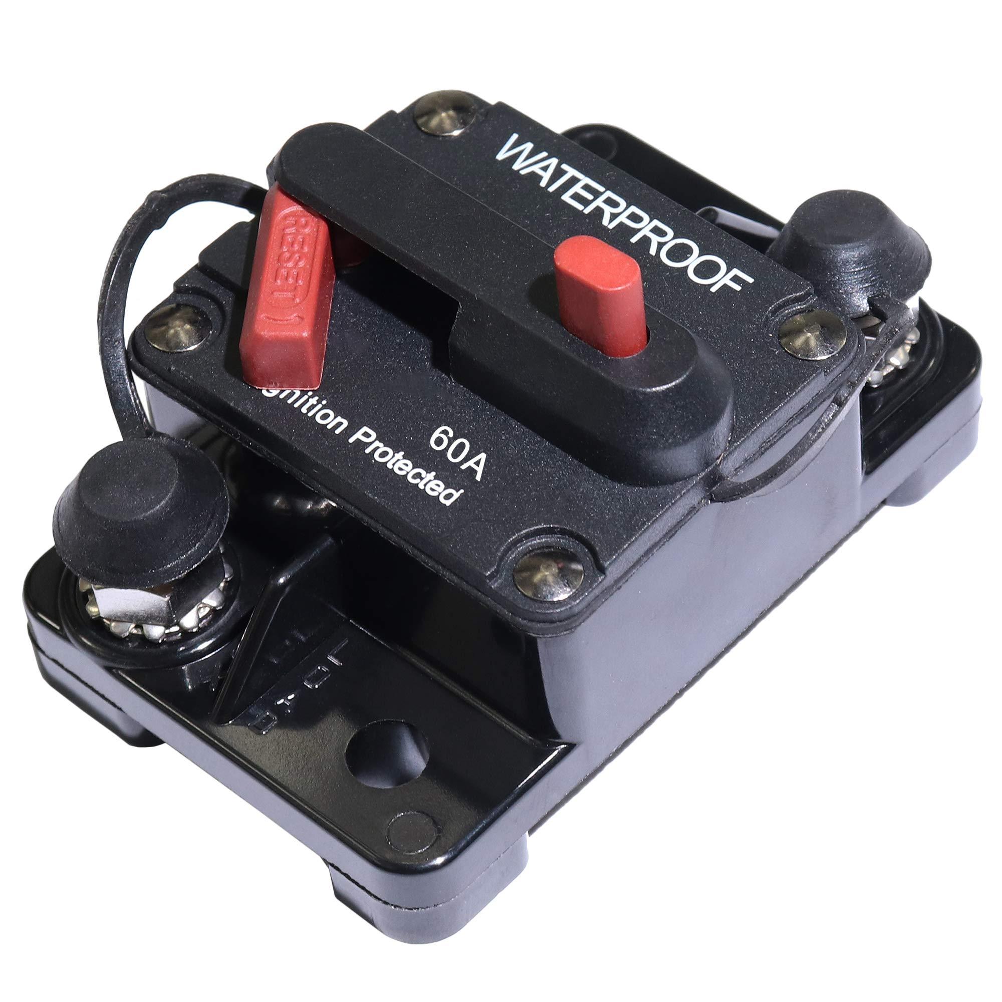60 Amp Circuit Breaker Manual Power Fuse Reset