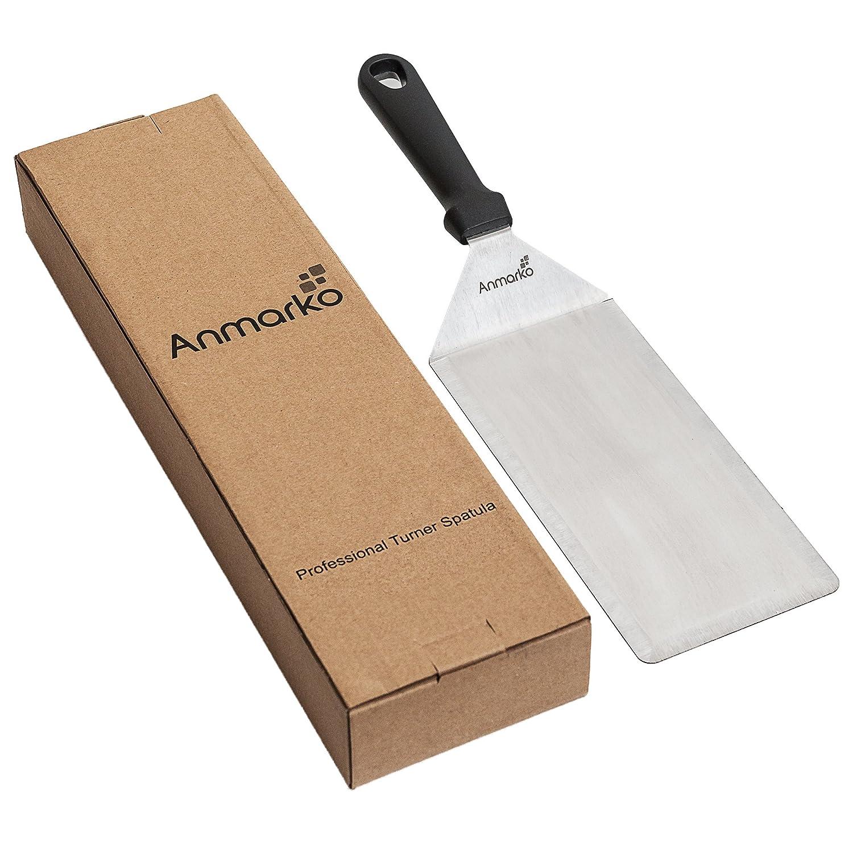 /Raschietto in acciaio INOX pancake e griglia ideale per grill e barbecue Flat Top Cooking 4 x 8-inch griddle spatula Anmarko professionale spatola set/