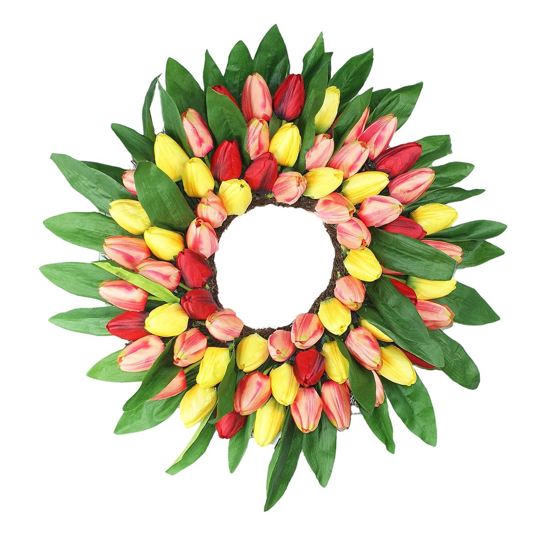 Emlyn 18 Silk French Window Wreath French Sash Wreath for Spring Summer /& Fall Wall D/écor