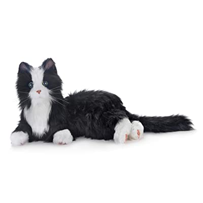 New Joy for All Robotic Reclining Black & White Tuxedo Cat - Stuffed Animal Therapy for People with Memory Loss from Aging and Caregivers: Health & Personal Care
