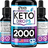 Keto Diet Drops with BHB Exogenous Ketones - Made in USA - Fat Burner & Appetite Suppressant - Natural Keto Liquid…