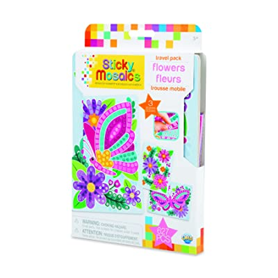Orb 51051 Sticky Mosaics Travel Pack Flowers, Multi: Toys & Games [5Bkhe1403102]