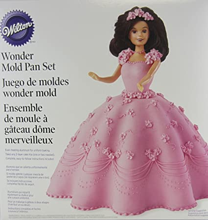 Amazon Com Wilton Wonder Mold Kit Doll Princess Birthday Cake Set
