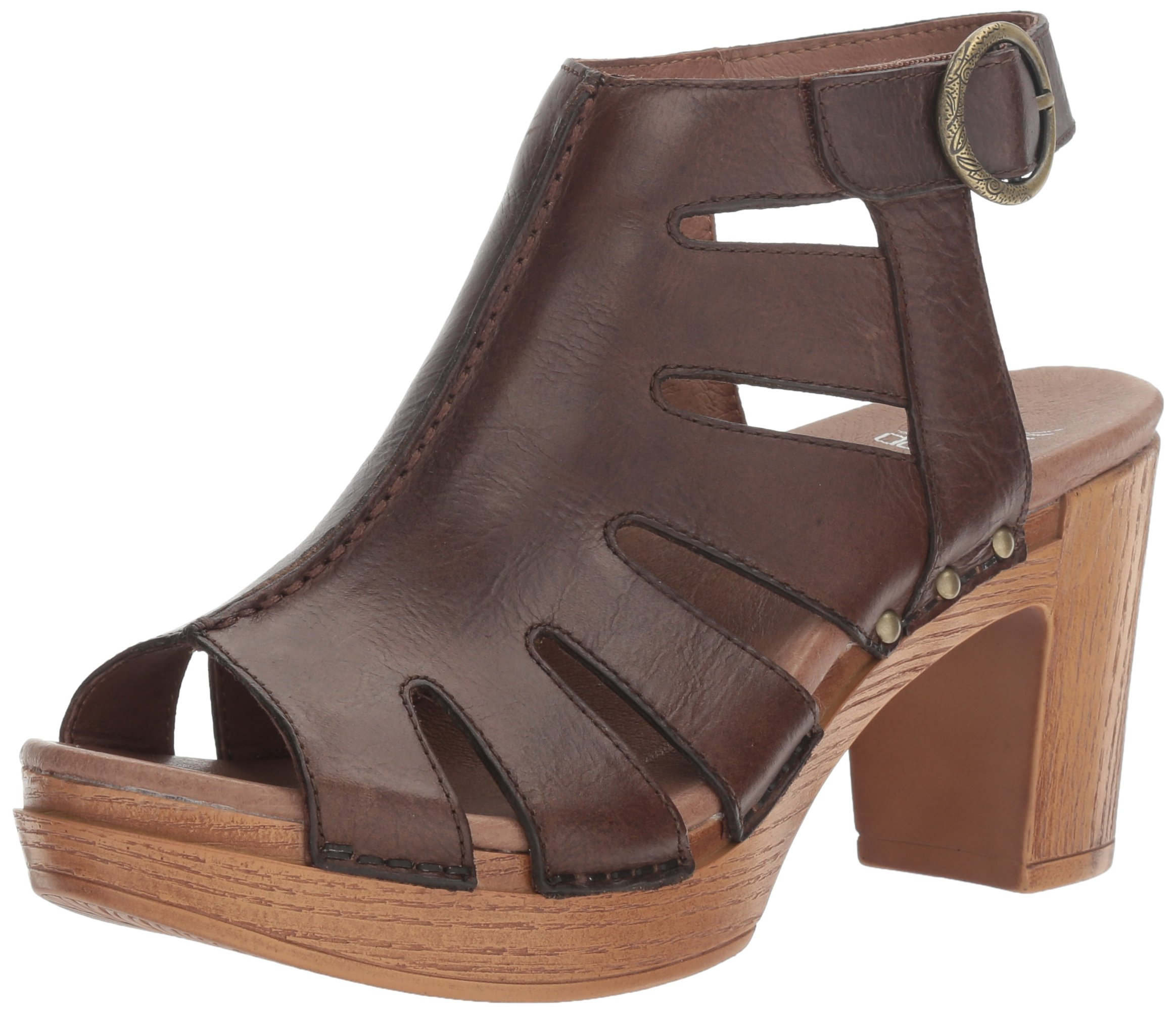 Dansko Women's Demetra Ankle Bootie, Teak Vintage Pull up, 38 EU/7.5-8 M US