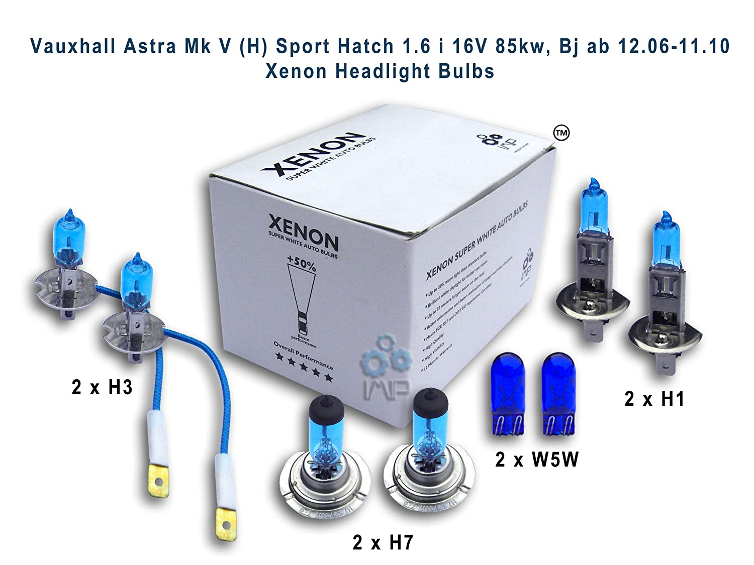 IMIP/Genius Xenon Bulb Kits Xenon Headlight Bulbs H3, H1, H7, W5W