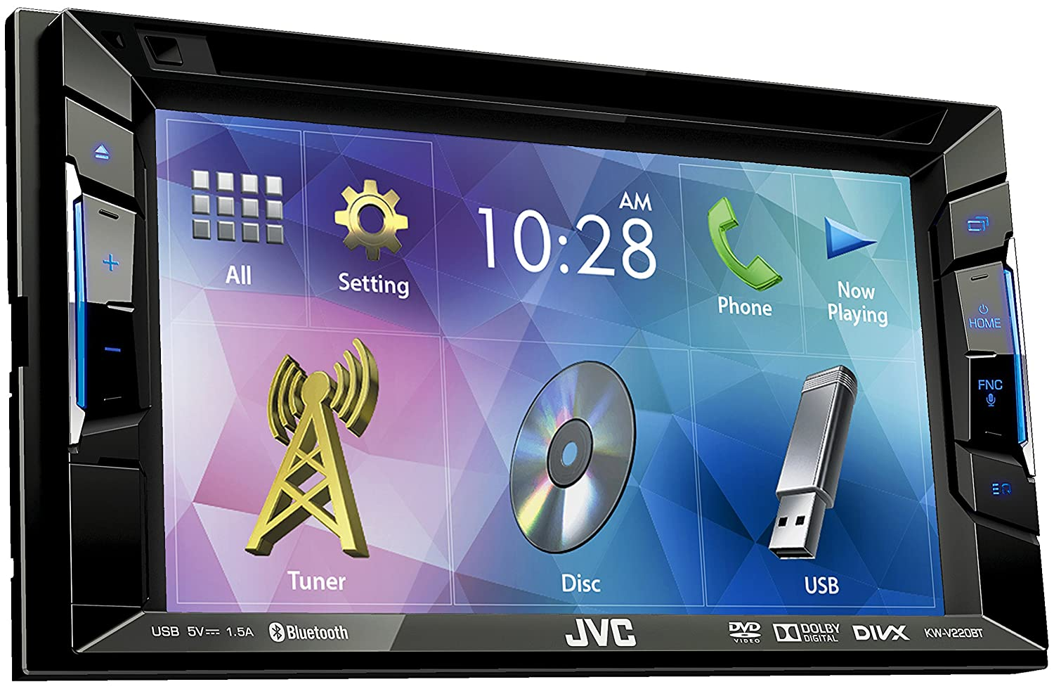 JVC KW-V220BT Car Stereo DVD/USB-Receiver with 6.2-Inch: Amazon.co ...