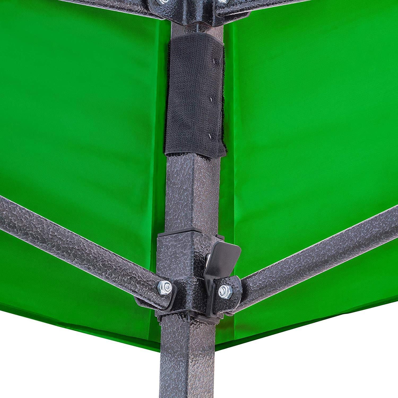 FRANKYSTAR Gazebo richiudibile 3X3 Pieghevole A Fisarmonica Automatico Mercato Tenda con Sacca.Disponibile Colore Bianco,Blu,Verde Verde