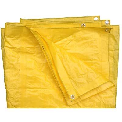 8 Ft X 10 Ft High Visibility Yellow Tarp - 3.3 Oz.