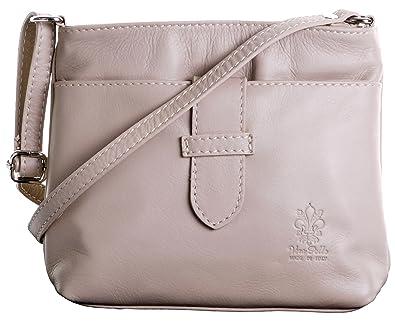 En cuir souple italien fait main petite gris clair sangle bandoulière réglable avec porte compartiment Triple Cross Body ou sac à main.Comprend un sac de rangement protecteur marque. qoBvxtV