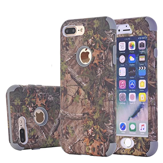 iPhone 8 Plus Case/iPhone 7 Plus Cover, Harsel Camouflage Lift Tree Design 2