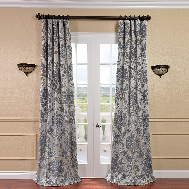 Sinatra silver shower curtain - Half Price Drapes Jqch 2012206 108 Magdelena Faux Silk Jacquard Curtain Silver