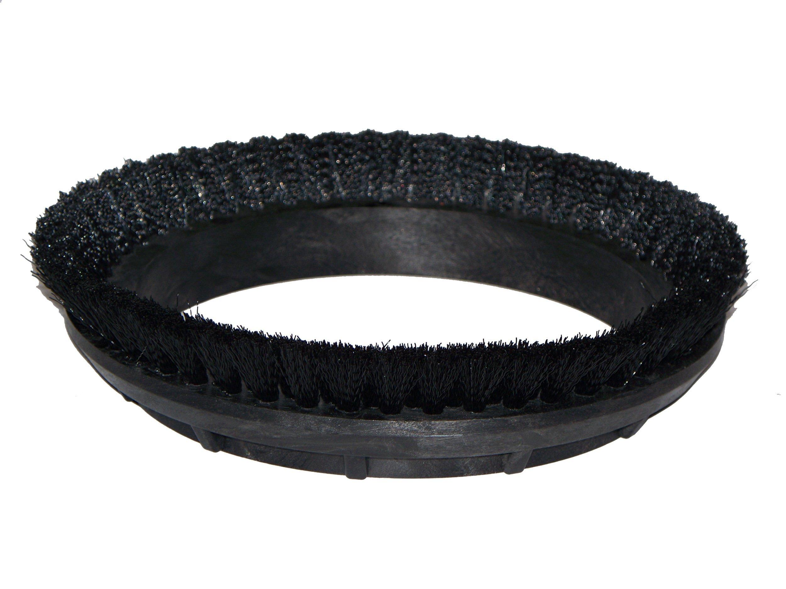 BISSELL BigGreen Commercial 237.049BG Carpet Shampoo Brush, 0.012'' Bristle Diameter, Crimped 6.6 Nylon for BGEM9000 Easy Motion Floor Machine, 12'', Black by Bissell