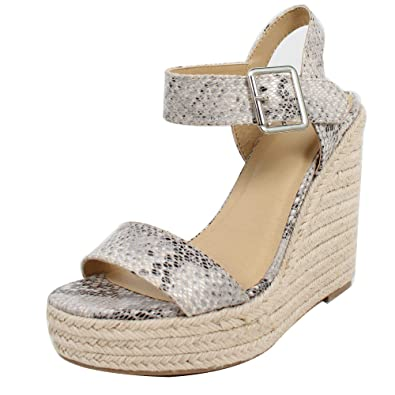 3abcefeda08 Delicious Women's Open Toe Espadrille Platform Wedge