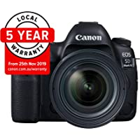 Canon EOS 5D Mark IV Professional Kit with EF 24-70mm f 2.8L II USM Digital Camera - SLR(5DIVPROK) 3.2Inch Display,Black (Australian warranty)