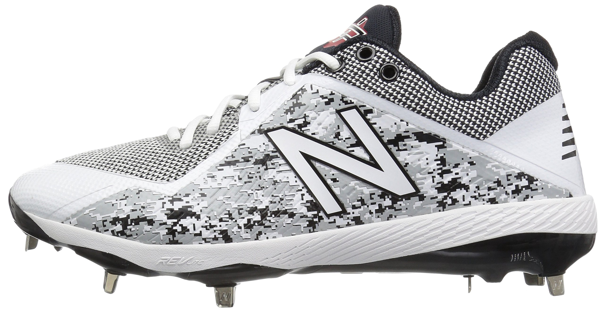 New Balance Men's L4040v4 Metal Baseball Shoe, Silver/Camo, 7.5 2E US by New Balance (Image #5)