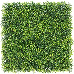 """ULAND Artificial Boxwood Hedge Panels, Grass Greenery Backdrop, Outdoor Ivy Garden Fence, Home Wall Decorations, Pack of 12pcs 20""""x20"""""""