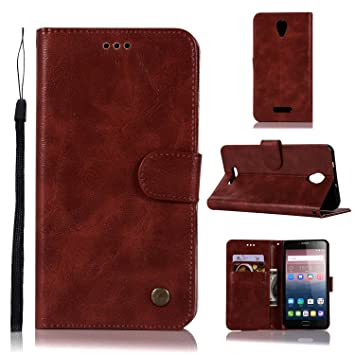 pinlu® Funda para Alcatel Pop 4 Plus Retro Flip Billetera ...