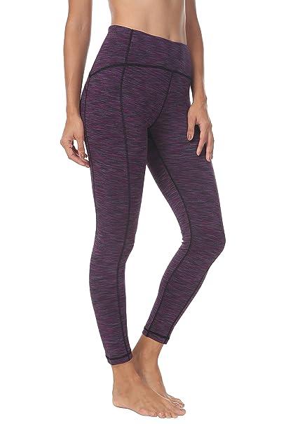 079196eb17 QUEENIEKE Queenie Ke Women Yoga Leggings Ninth Pants Power Flex Mid Waist  Running Gym Tights Size M Color Purple Space Dye: Amazon.ca: Clothing & ...