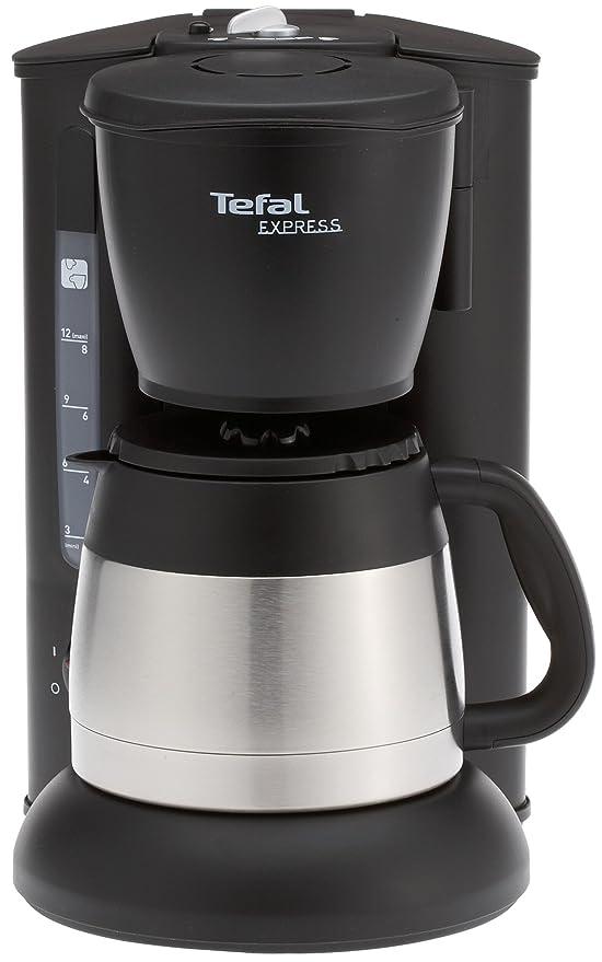Tefal CI 1105 - Cafetera de goteo con jarra termo, color negro ...