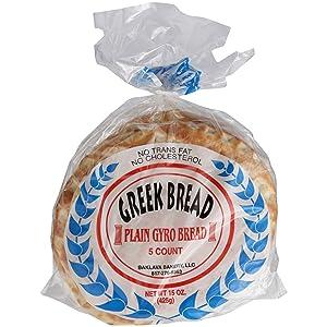 Baklava Bakery, Bread Pita Greek, 16 Ounce
